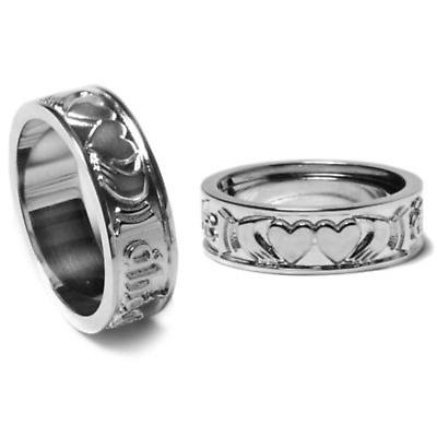 "Irish Rings - Sterling Silver ""Two Hearts Together"" Ring"