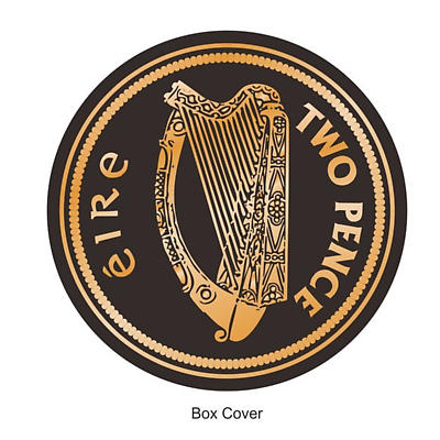 Irish Penny Watch - Mens Brushed Copper Irish Two Pence Watch