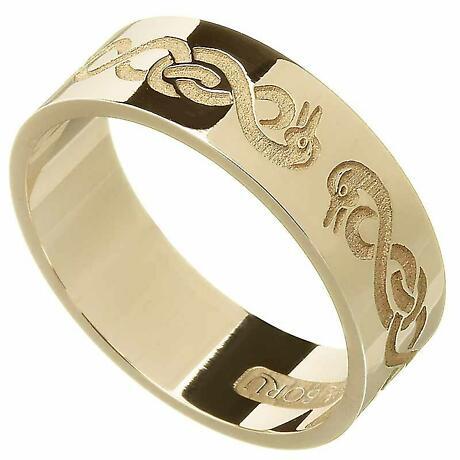 Celtic Ring - Men's 'Le Cheile' Celtic Wedding Ring
