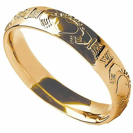 Claddagh Ring - Ladies Claddagh Court Wedding Band