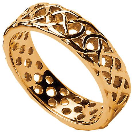 Celtic Ring - Men's Pierced Celtic Wedding Ring