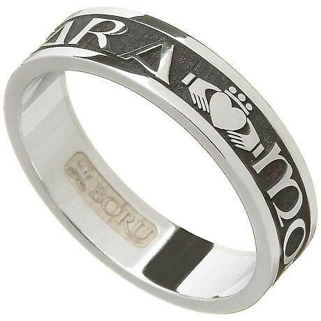 "Irish Rings - Ladies Sterling Silver Mo Anam Cara Ring ""My Soul Mate"" Ring"
