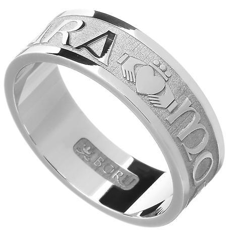 """Irish Rings - Men's Gold Mo Anam Cara """"My Soul Mate"""" Ring"""