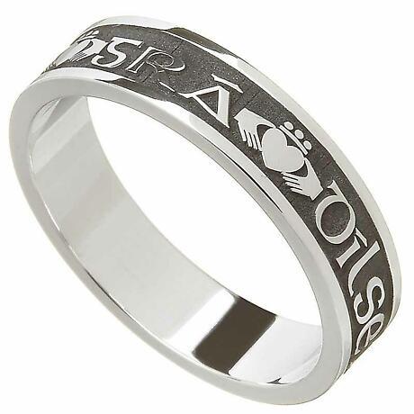 Claddagh Ring - Ladies Gra Dilseacht Cairdeas 'Love, Loyalty, Friendship' Irish Wedding Ring