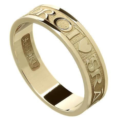 Irish Ring - Ladies Gra Geal Mo Chroi 'Love of my heart' Irish Wedding Ring