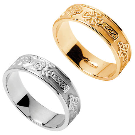 Claddagh Ring - Men's Claddagh Extra Wide Wedding Band