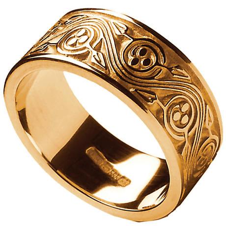 Irish Ring - Men's Triskele Weave Irish Wedding Ring