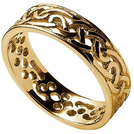 Celtic Ring - Ladies Filigree Celtic Wedding Band