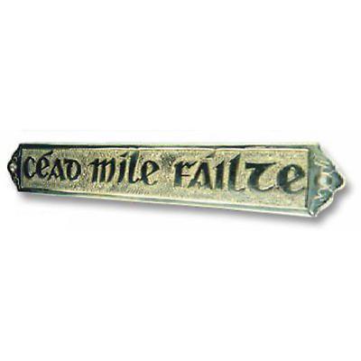 Cead Mile Failte Brass Welcome Plaques