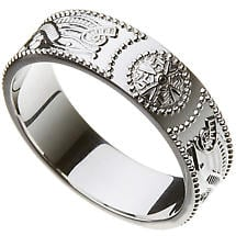 Celtic Ring - Ladies Warrior Shield Wedding Ring