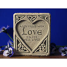 Celtic Love Stone Plaque
