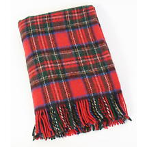 Royal Stewart Tartan 54 x 45 Wool Throw