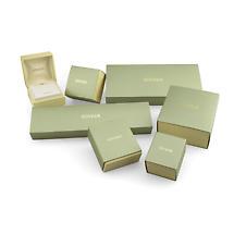 14k White Gold and Diamond Shamrock Earrings