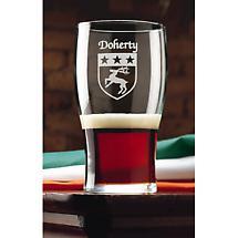 Personalized Irish Coat of Arms Tavern Glasses - Set of 4
