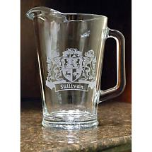Personalized Coat of Arms Beverage Pitcher