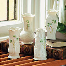 Belleek Vase - Shamrock Mini (set of 4)