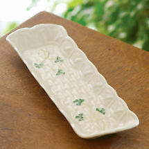 Belleek Shamrock Mint Tray