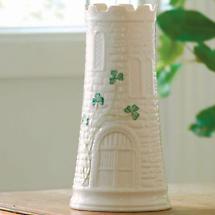 "Belleek Vase - 7.7"" Castle"