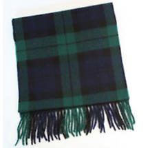 100% Lambswool Tartan Scarf - Blackwatch