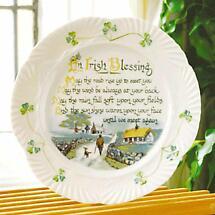 Belleek Irish Blessing Plate