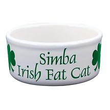 "Personalized 5"" Irish Fat Cat Bowl"
