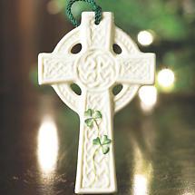 Irish Christmas - Belleek St. Kieran's Celtic Cross Ornament