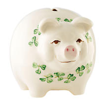 Belleek Pig Money Bank