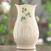 """Belleek Vase - 4"""" Mini Gaelic"""