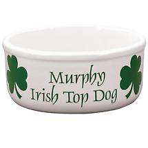 "Personalized 7"" Irish Top Dog Bowl"
