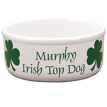 "Personalized 7"" Irish Top Dog Bowl"