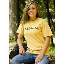 Irish T-Shirt - Slainte (Mustard)