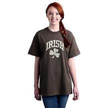 Irish T-Shirt - Irish Shamrock Distressed