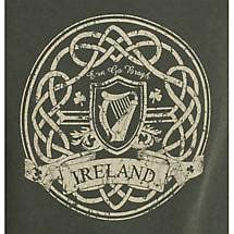 Irish T-Shirt - Celtic Harp Distressed