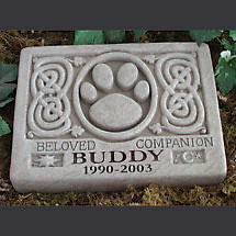 Personalized Celtic Pet Memorial Stone