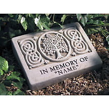"Personalized Celtic Tree ""In Memory Of"" Stone"
