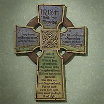 """Irish Bedtime Blessing"" Cross"
