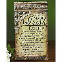 Irish Father Plaque