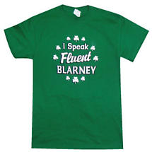 "Irish T-Shirt - ""I Speak Fluent Blarney"""