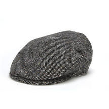 Vintage Irish Donegal Tweed Cap Grey Salt and Pepper