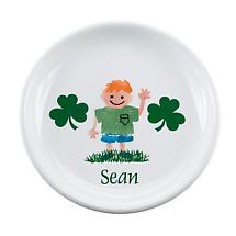 "Personalized 8"" Irish Kids Plate"