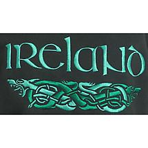 Ireland Dragons Embroidered Hooded Sweatshirt - Forest Green