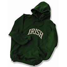Irish Varsity Embroidered Hooded Sweatshirt - Forest Green