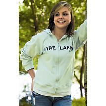 Ladies Ireland Hooded Zip Sweatshirt