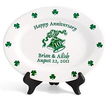 "Personalized 11"" Irish Anniversary Plate"