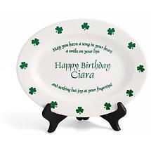 "Personalized 11"" Irish Proverb Birthday Plate"