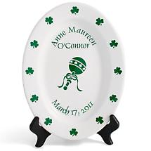 "Personalized 11"" Irish Birthday Plate"
