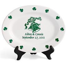 """Personalized 11"""" Irish Wedding Plate"""