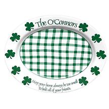 "Personalized 16.5"" Irish Shamrock Celebration Platter"