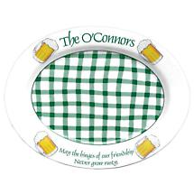"Personalized 16.5"" Irish Pub Serving Platter"