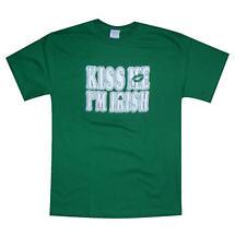 """Irish T-Shirt - """"Kiss Me I'm Irish"""""""